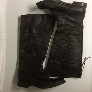 Enzo Angiolini Knee High Zip Leather 8M Boot Shoes